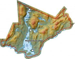 Carte des Lacs Suzie et Hazelwood